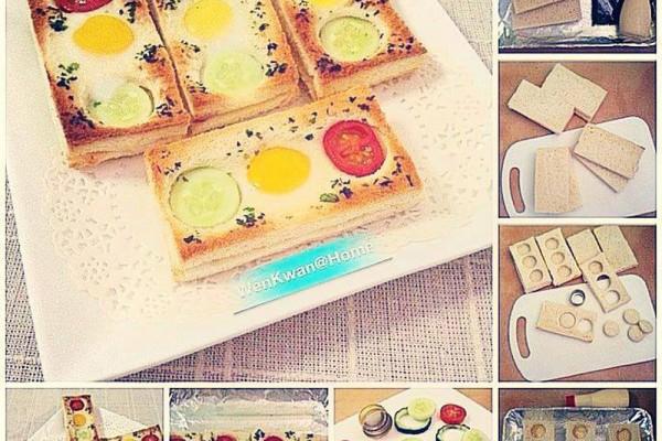 Fırında kahvaltılık sandviç yapımı