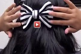 Fiyonk saç tokası nasıl yapılır?