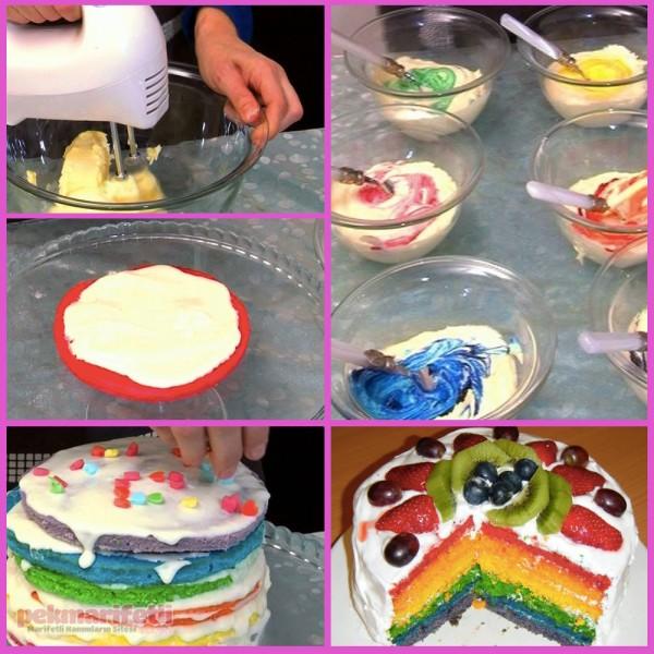 Gökkuşağı pastası nasıl yapılır?