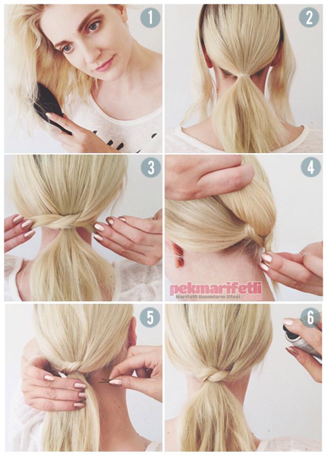Günlük kolay saç modeli yapımı