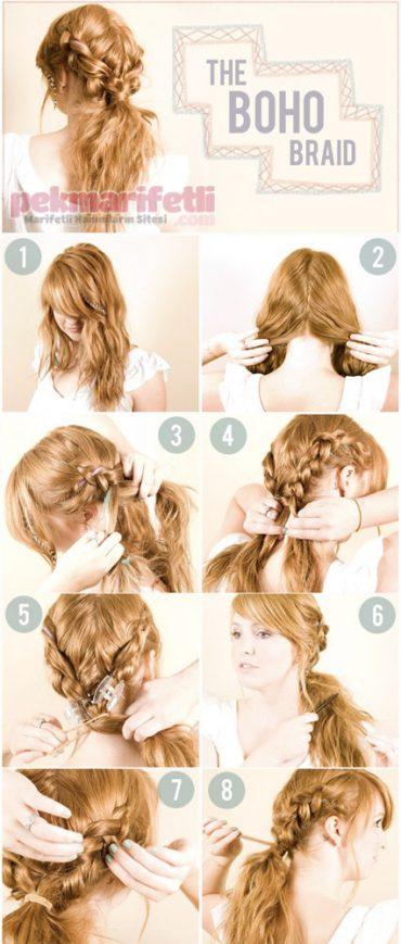 Günlük kullanım için kolay saç modeli