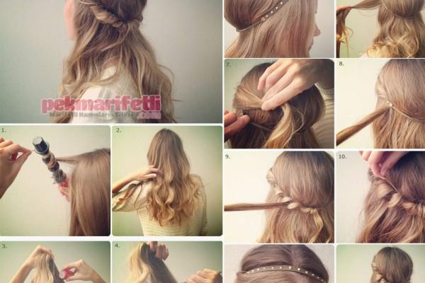 Günlük kullanım için rahat saç modeli