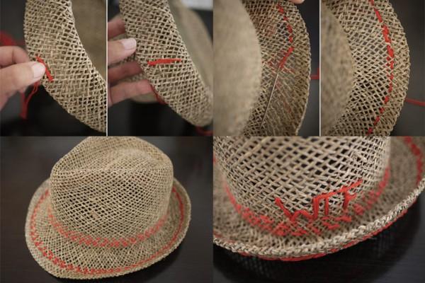 Hasır şapka nasıl süslenir?