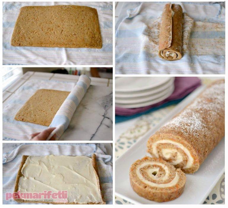 Havuçlu tarçınlı rulo pasta