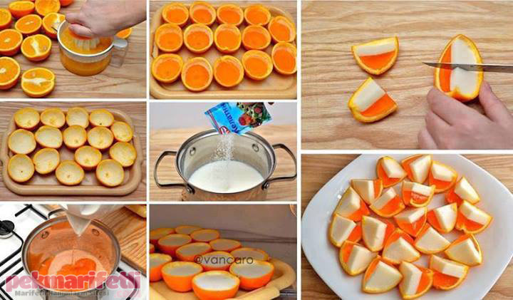 İki renkli portakal dilimleri