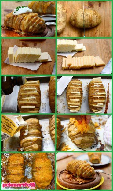kaşarlı-tereyağlı patates yemeye doyamayacaksınız