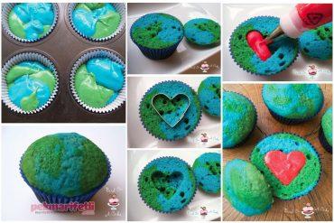 Kalp dolgulu cupcake yapımı