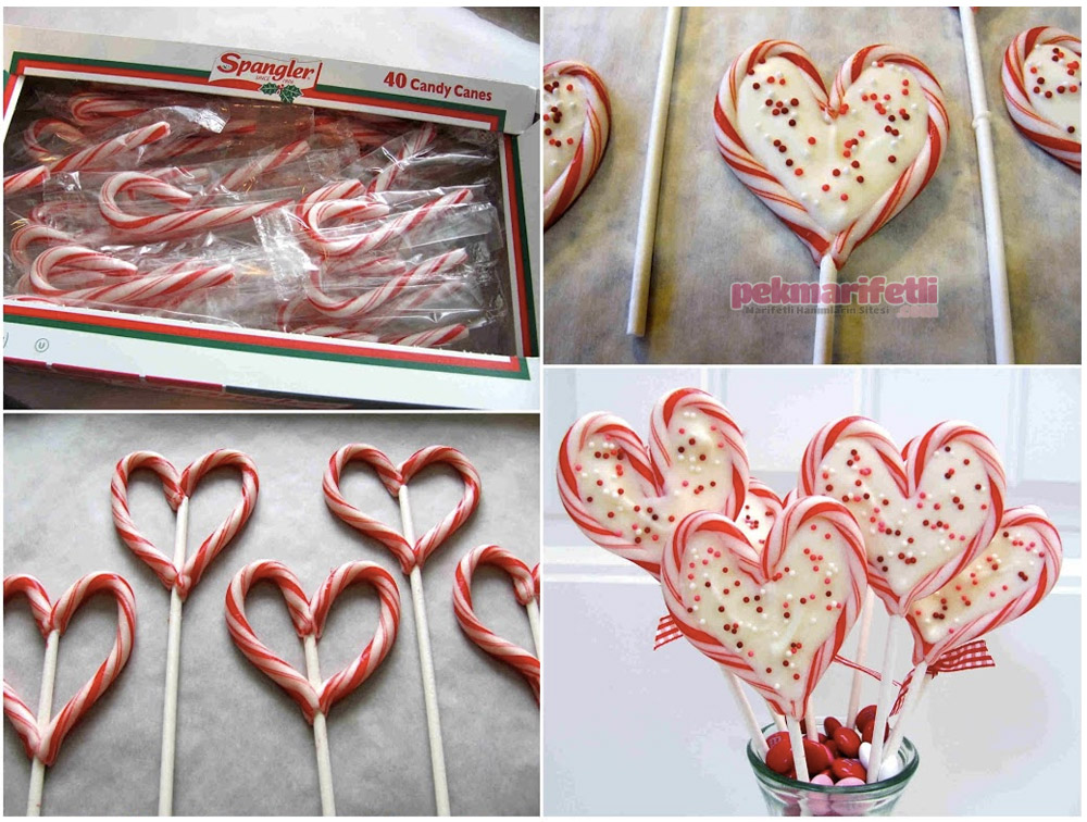 Kalp şeklinde dekoratif sevgililer günü şekeri