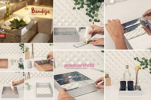 Kartondan dekoratif tabak yapımı