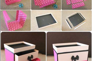 Kartondan takı kutusu yapımı