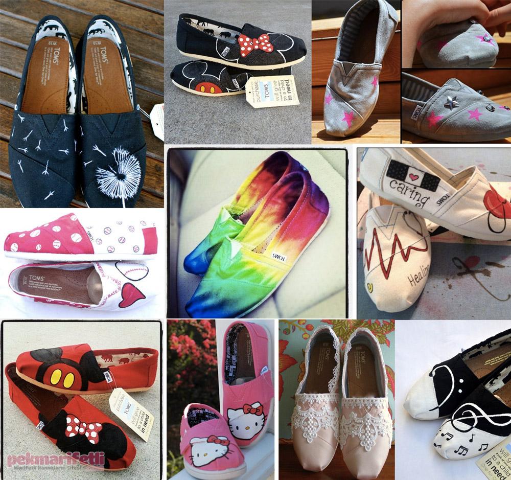 Evde Kolay Ayakkabı Süslemek