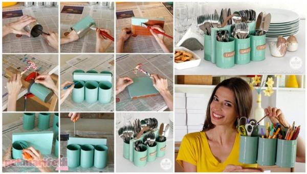 Konserve kutularından kaşıklık yapımı