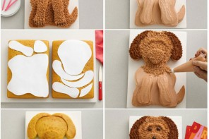 Köpek şeklinde pasta nasıl yapılır?