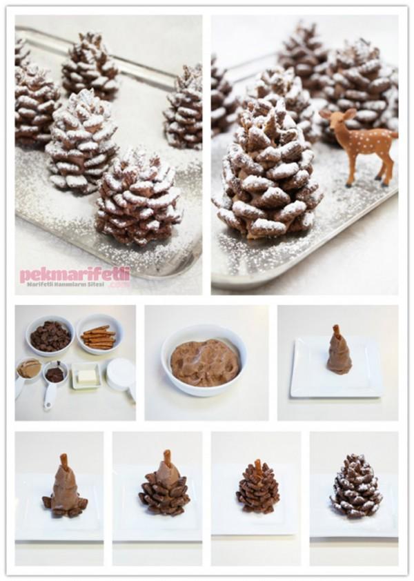 Kozalak şeklinde kurabiye nasıl yapılır?