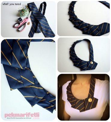 Kravattan yaka kolye yapımı