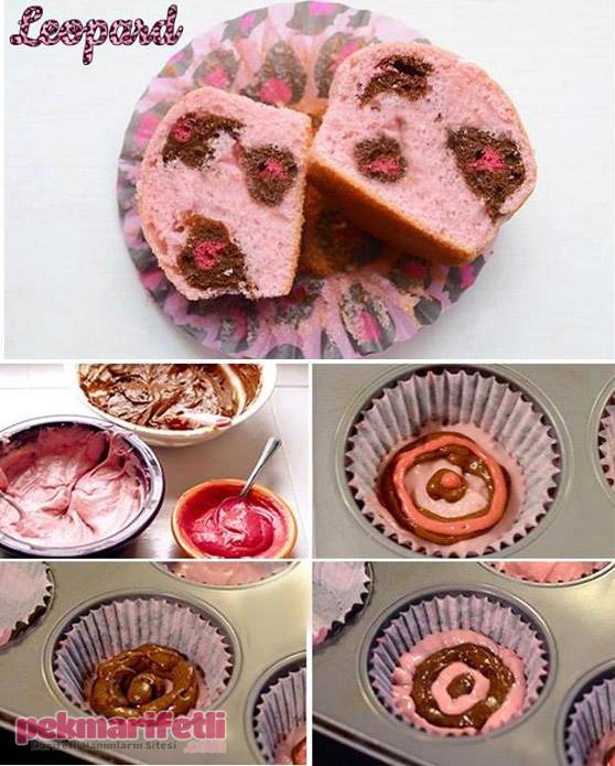 Leopar desenli cup cake nasıl yapılır?