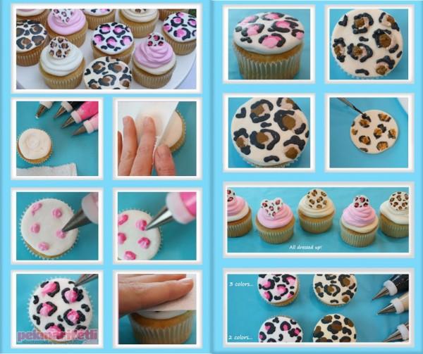 Leopar desenli cupcake yapımı