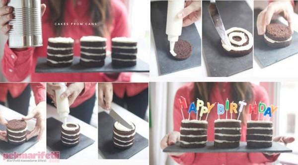 Mini doğum günü pastası yapımı
