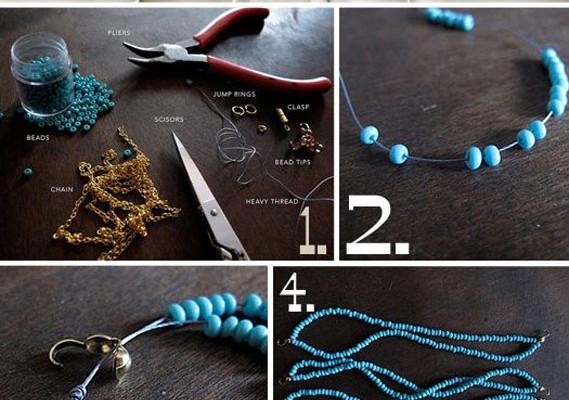 Minik boncuklarla örme kolye yapımı