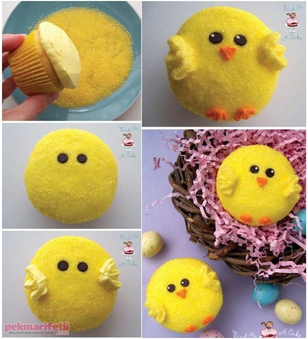 Minik civciv cupcake yapımı