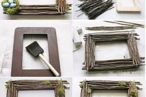 Minik dallardan çerçeve yapımı