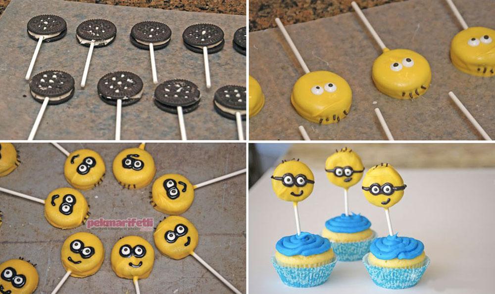 Minions konseptli cupcake yapımı