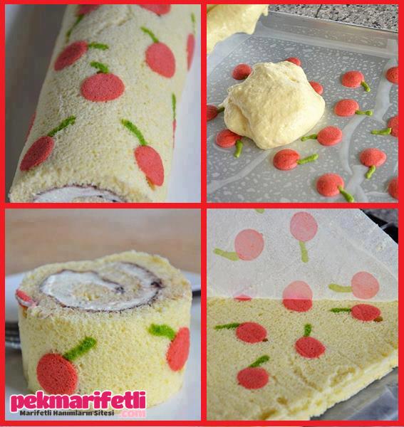 Muzlu kirazlı rulo pastaa