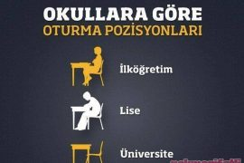Okullara göre oturma pozisyonları