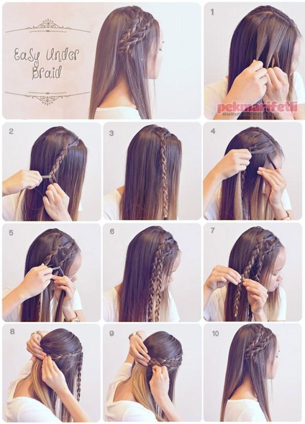 Örgülü saç modeli yapımı