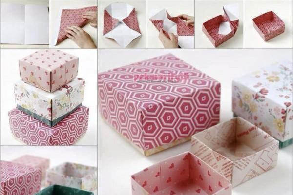 Origami ile hediye kutusu yapımı