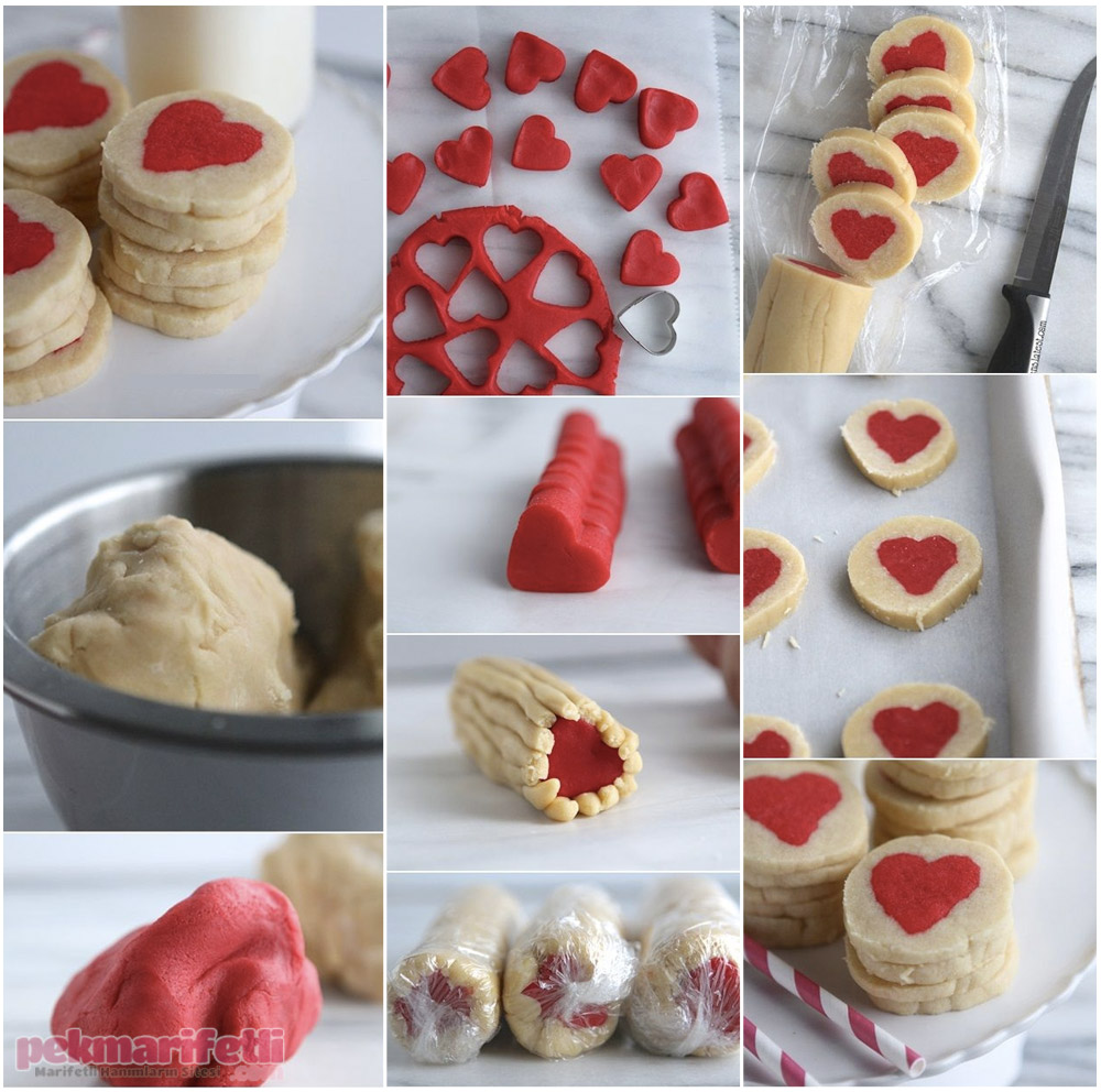 Ortası kalpli kurabiye yapımı