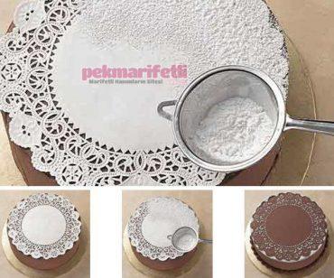 Pasta kağıdıyla pasta süsleme