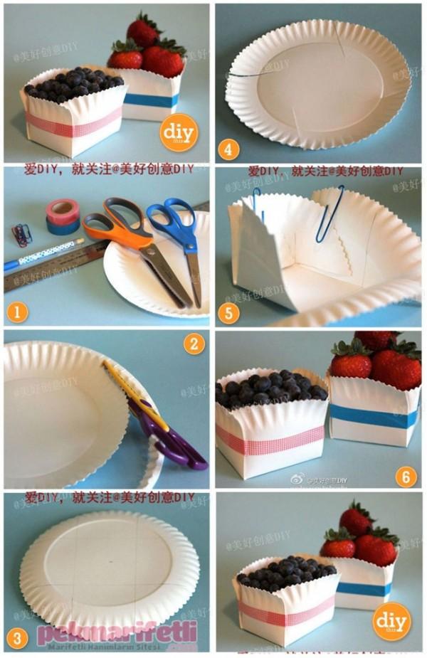 Plastik tabaklardan meyve kasesi yapımı
