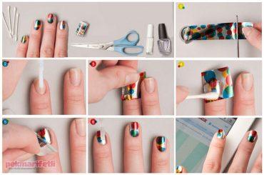 Puantiyeli ve renkli tırnaklar nasıl yapılır?