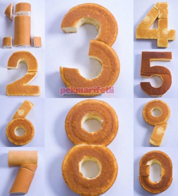 Rakamlı doğum günü pastası nasıl yapılır?