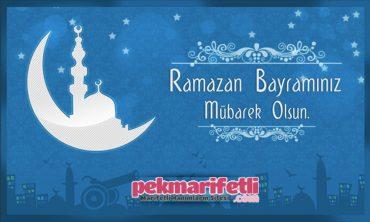 Ramazan Bayramınız mübarek olsun..!
