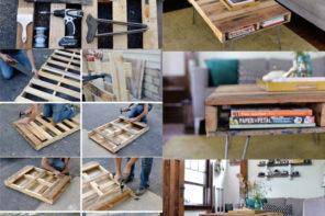Resimli anlatımlı tahta paletten orta sehpa yapımı