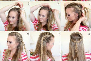 Resimli anlatımlı yarım balıksırtı saç yapımı