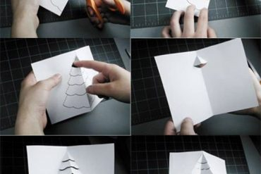 Resimli anlatımlı yılbaşı kartı hazırlama