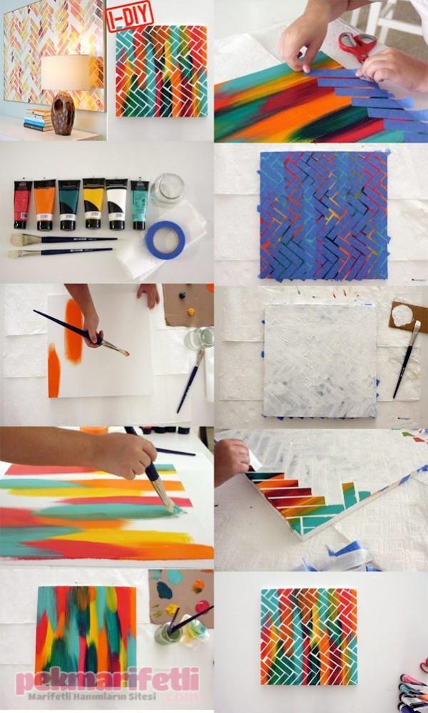 Sanatsal tablolarınızı kendiniz yapın ;)