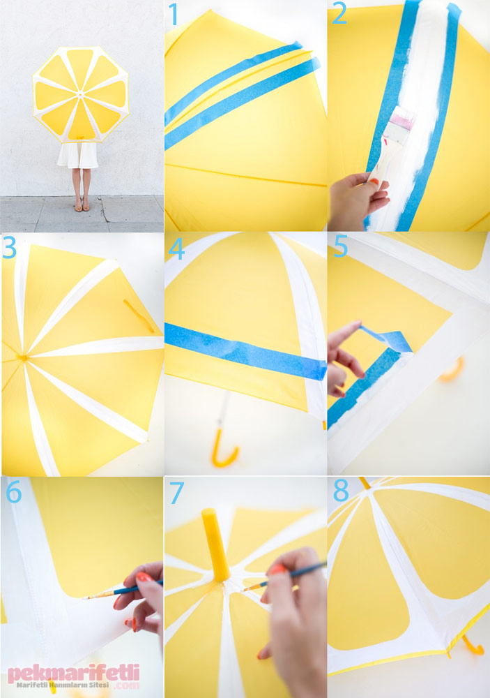 Şemsiyeye limon şekli nasıl verilir?