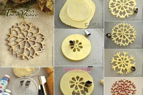 Seramik hamurundan dekoratif kar tanesi yapımı