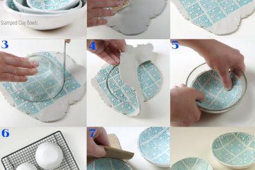 Seramik hamurundan desenli dekoratif tabak yapımı
