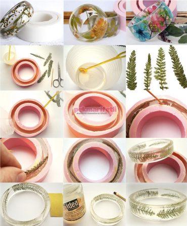 Silikondan çiçekli bileklik nasıl yapılır?
