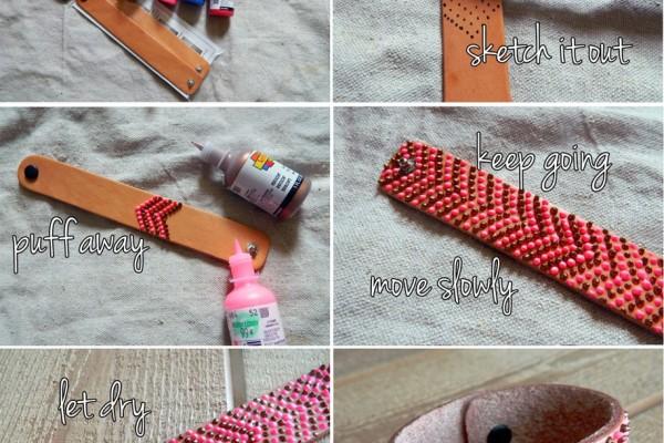 Simli yapıştırıcıyla bileklik yapımı