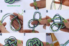 Sonsuz düğümle örme bileklik yapımı