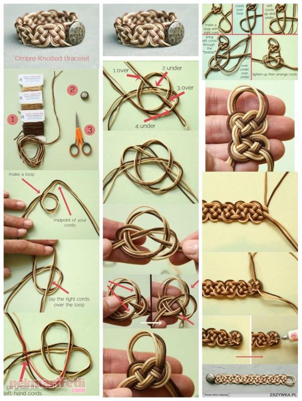 Sonsuz düğümlerden bileklik yapımı