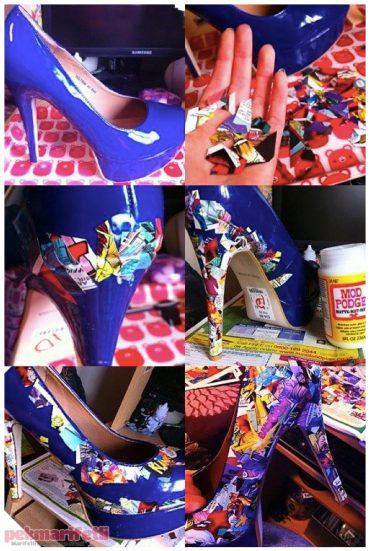 Tek renk ayakkabıdan sıkılanlara :)