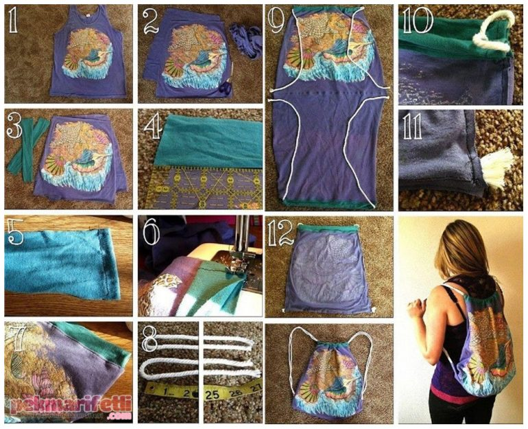 Tişörtten sırt çantası yapımı