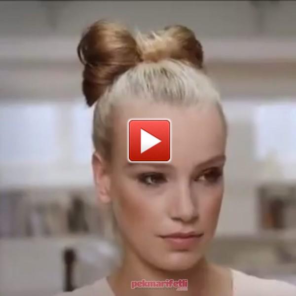 Videolu anlatımlı fiyonk saç modeli yapımı